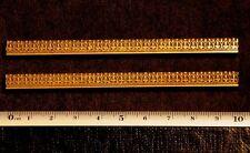 2 X Art Nouveau Ornament Bookbinding Brass Type Letterpress Hot Bookbinder Frame