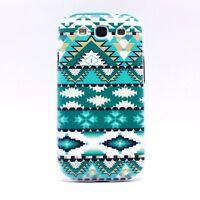 ►► Coque SAMSUNG S3 S4 & S3 mini - Motif AZTEQUE vert bleu (case cover aztec)