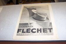 PUBLICITE ANCIENNE DE L ILLUSTRATION 1941 CHAPEAUX FLECHET HAVAS