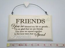 Blessed Friends Wall Plaque Sign Friendship Birthday Gift Ideas for Her
