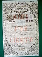 Mexico Mexican 1859 Eagle Aguila 100 $ Bono Amortizacion Bond Loan SCARCE