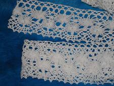 "6 Yards 2 1/2"" Width white Cotton Crochet Lace Trim for your fashion design"