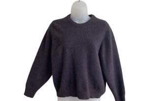 SAKS FIFTH AVENUE Boys XL 100% Cashmere Brown Speckle Sweater Crewneck