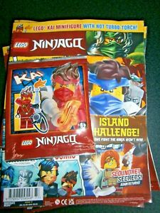 LEGO Ninjago Magazine Issue 77 With Kai Mini-Figure With Hot Turbo Torch! 2021