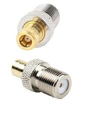 F Female Jack To SMB Female Jack RF Adapter Connector FFSMBF