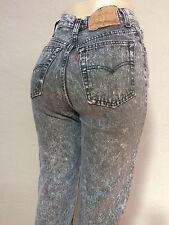 Vtg 80s Levi's 501 Acid Wash Mom Jeans women's size 26 / 7 Thin Skinny Slim Punk