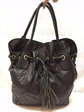 Adler Large Black Leather Purse Shoulder Bag