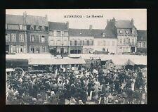 France Pas-de-Calais AUDRUICQ Le Marche busy market day c1900/10s? PPC