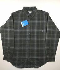 Columbia Mens 2XL Gray Green Plaid Cooper Lake Long Sleeve Casual Shirt NWT