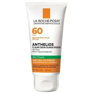 La Roche-Posay Anthelios SPF 60 Clear Skin Sunscreen Dry Touch 1.7oz Exp. 2024