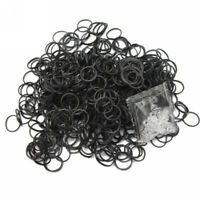 600 Pcs Black Rubber Bands 24 Clips For DIY Loom Charming Bracelet Ankl XWH