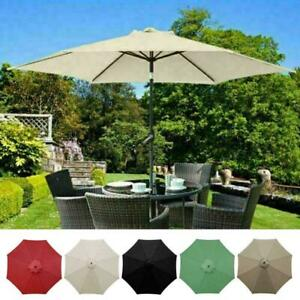 Replacement Fabric Garden Parasol Canopy Cover For 3 Arm 8 x Umbrella 1 T4V3