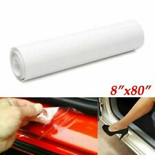 "Clear Film Headlight Bumper Hood Door Sill Edge Paint Protection Vinyl 8""x80"""