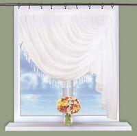 voile fenêtres GAUCHE DROITE RIDEAU FILET 300 cm x 150 cm avec guipure