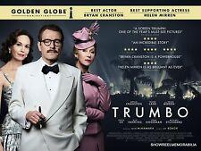 TRUMBO 2016 Helen Mirren Cinema review quad drama movie poster 30 x 40 inches