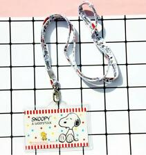 New Snoopy Peanuts ID Badge Lanyard Card Holder Travelling Case c/w Neck Strap