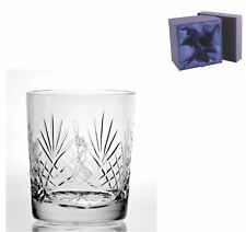 Cut Crystal 11oz Whisky Glass - Cricketer Design in Presentation Box