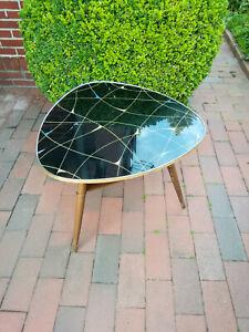 Midcentury Nierentisch Tisch Couchtisch Rockabilly 50er Rockabilly schwarz 65 cm