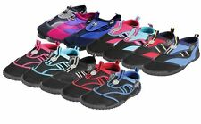 Adults Velcro Aqua Shoes - Mens Womens Colour Choice Raspberry Uk5