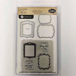 SIZZIX® FRAMELITS STAMP & DIE CUT - FRAMES by GRAPHIC 45™ FREE UK P & P