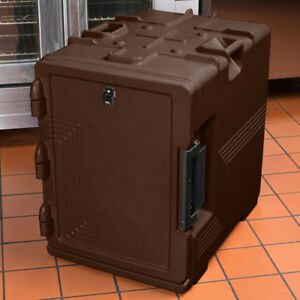 CAMBRO S-SERIES ULTRA INSULATED FOOD CARRIER, BUILT-IN GASKET DARK BROWN UPCS400
