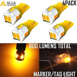 Alla Lighting 6-LED Side Marker Indicator Light License Bulbs Lamps Amber Yellow