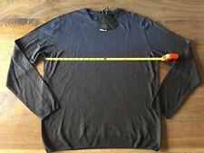 Pal Zileri Sweater Mens XL Eu 56 Navy Merino Wool Crew Neck LS Italy NWT 0f51a25434
