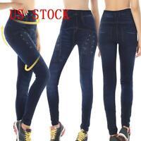 Women High Waisted Pencil Stretchy Slim Skinny Jeans Denim Ladies Jeggings Pants