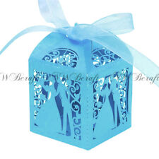 20-100 Luxury Boxes Wedding Party Favour Laser Cut Sweets Cake Candy Gift Favor