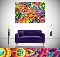 Mandala Abstract Spiritual Psychedelic Trippy Giant Poster Wall Art Print