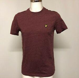 New Lyle & Scott T-Shirt S Men's Burgundy Red Crew Neck Cotton Casual 020502