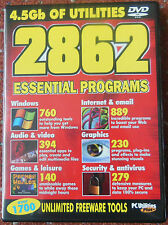 New PC Utilities - 4.5GB Of Utilities DVD ROM - 2862 Essential Programs
