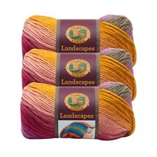 Lion Brand Yarn 545-211 Landscapes Yarn, Coral Reef (Pack of 3 skeins)