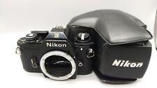 +Vintage NIKON EM Film Camera Body with Leather Case Made inJapan Working Kamera