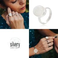 Silvery Ring Regenbogenmondstein Silber 925 schmuckrausch