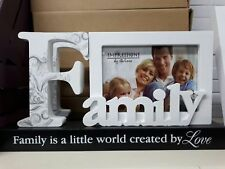 FAMILY PHOTO FRAME GIFT WITH PLAQUE BRAND NEW BOXED
