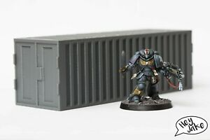Wargaming Terrain: Modern Shipping Container or Crate for Warhammer 40K, Crisis