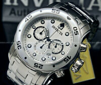 NEW Invicta Men Pro Diver Scuba 48MM Silver Dial Chronograph S.S Bracelet Watch