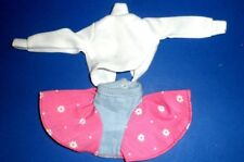 Barbie Fashion doll clothes 1980's 90s outfit PINK FULL SKIRT Genuine Barbie