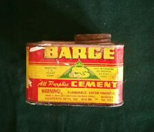 Vintage Barge Cement Tin 32 oz. - Buffalo, NY. - Super Colors Graphics FREE SHIP