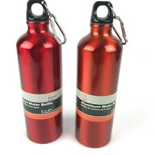 2 Pack Chef Craft  Water Bottle, 25 oz, Aluminum RED And ORANGE