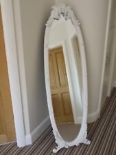 White chic Mirror Cheval Mirror free standing bevelled glass full length Mirror