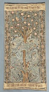 French Aubusson Style Wall Tapestry-Verdure 97 x 48 cm.