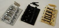 HARD TAIL BASS GUITAR BRIDGE/ UNIVERSAL STRINGS THROUGH BRIDGE OR BODY /CH/BK/GD