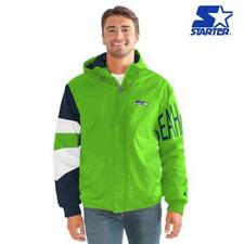 Officially Licensed NFL Knockout Crinkle Nylon Starter Jacket by Glll Bears  Size Large Seahawks f94aac1a7