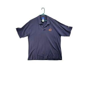 CHICAGO BEARS Shirt Men's Navy Blue Extra Large Short Sleeve Polo NFL
