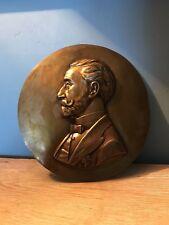 Médaillon bronze,portrait,XIX°.