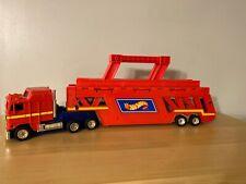 VTG 1986 Mattel Hot Wheels Semi Truck Trailer Transporter Car Hauler Carrier