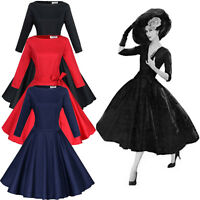 Hepburn 50s Rockabilly Swing Cocktail Kleid Abendkleid Ballkleid Vintage BC249