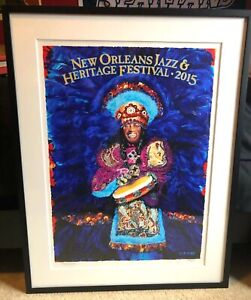 2015 New Orleans Jazz Fest JazzFest Poster | Chief Bo Dollis | Artist Signed